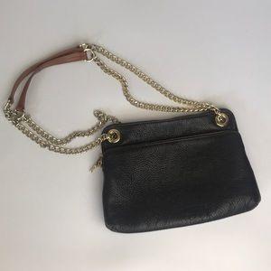 Valentina Italian Leather Gold Chain Shoulder bag